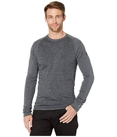 Smartwool NTS Mid 250 Pattern Crew Top (Medium Gray Tick Stitch) Men
