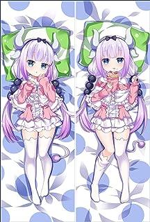 Anime Miss Kobayashi's Dragon Maid Hugs Pillow Case Hug Pillow Cover Manga Cosplay Long Hugging Body Pillowcase (Peach Skin, XLW-763)