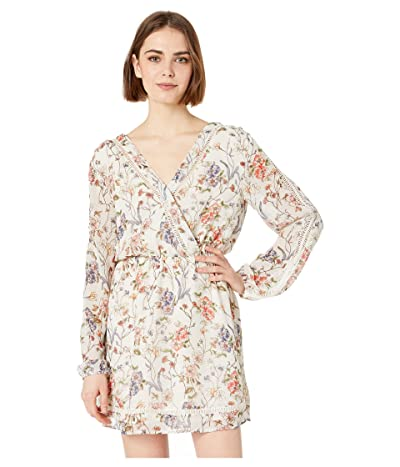 Cupcakes and Cashmere Lulani Faux Wrap Dress (Ivory) Women