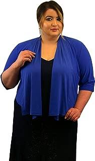 SleekTrends Women Plus Size Elbow Sleeve Shawl Collar Bolero Jacket
