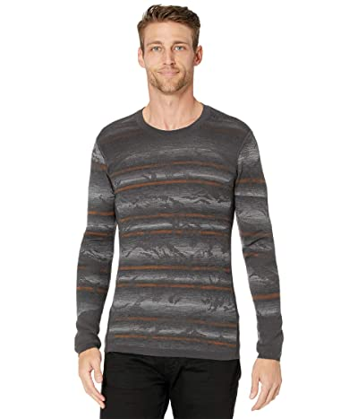 Smartwool Intraknit Merino 200 Pattern Crew (Forged Iron Mountain Stripe) Men