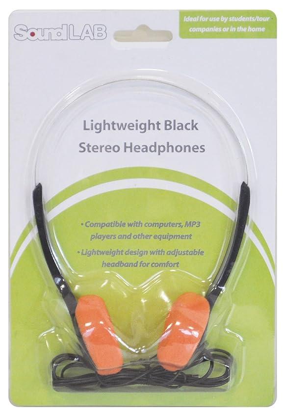 負荷役割裏切り者SoundLab Lightweight Orange School Office Stereo Headphones