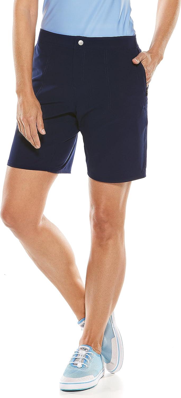 Coolibar UPF 50+ Women's Schooner Board Shorts  Sun Predective