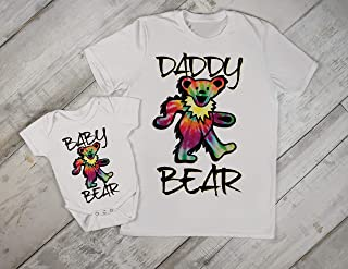 Grateful Dead Daddy Dad and Baby Matching Set Onesie Tshirt Papa Son Daughter Hippie Fathers Day Gift