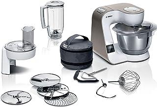 Bosch MUM5XW20 MUM 5 - Robot de cocina, báscula integrada, cuenco grande de acero inoxidable (3,9 l), juego profesional de...