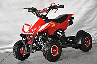 Mini quad infantil Raptor/Mini quad para niños de 3 a 8 años/Motor 49cc 2 tiempos (ROJO)
