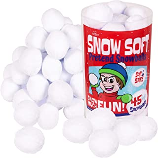Narwhal Novelties Snow Soft; Snowball Fights in The Living Room; Fake Snow, Snowballs (45-Pk)