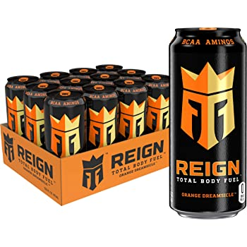 Reign Total Body Fuel, Orange Dreamsicle, Fitness & Performance Drink, 16 Oz (Pack of 12)