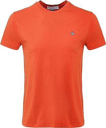 Vivienne Westbois Man Hommes t-Shirt Classique en Coton Biologique Orange