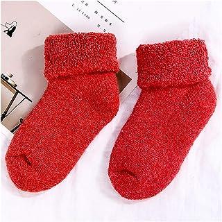 NIHAOA, 1 pares de calcetines mullidos para niños - suave confortable con cómodo invierno con abrigo acogedor calcetines de cama de zapatillas (color: azul, tamaño: 4-7 años) ( Color : Red , Size : 4-7years )