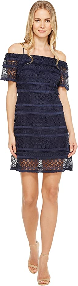 Off Shoulder Lace Shift Dress
