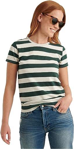 Oatmeal/Green Stripe