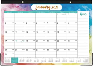 "2021 Desk Calendar - Yearly Desk Calendar 2021, Desk/Wall Monthly Calendar Pad with Julian Date, 17"" x 12"", January 2021 -..."