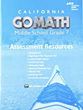 Holt McDougal Go Math! California: Assessment Resource with Answers Grade 7