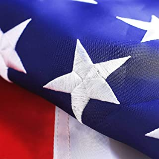 G128 – American USA US Flag 3×5 ft Deluxe Embroidered Stars Sewn Stripes Brass..