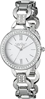Caravelle New York Women's 43L180 Analog Display Analog Quartz White Watch