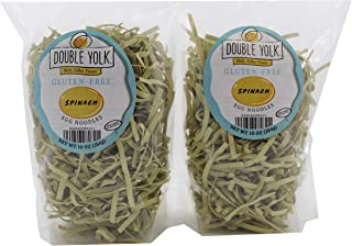 Double Yolk Gluten Free Spinach Egg Noodles,10 Ounce Bag (Pack of 2)
