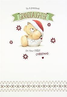 Hallmark Forever Friends 1st Christmas Card 'For Granddaughter' - Medium