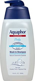 Aquaphor Baby Wash and Shampoo - Mild, Tear-Free 2-in-1 Solution for Babys Sensitive Skin