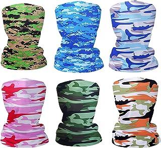 Fashion Face Dust Mask (6 PCS) Bandanas Sports & Casual Headwear Seamless Neck Gaiter, Headwrap, Balaclava, Helmet Liner