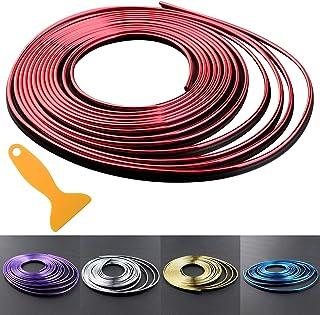 Wittyware Automobile Interior Trim Strip DIY 5M Auto Decoration Moulding Trim Strip Line Red
