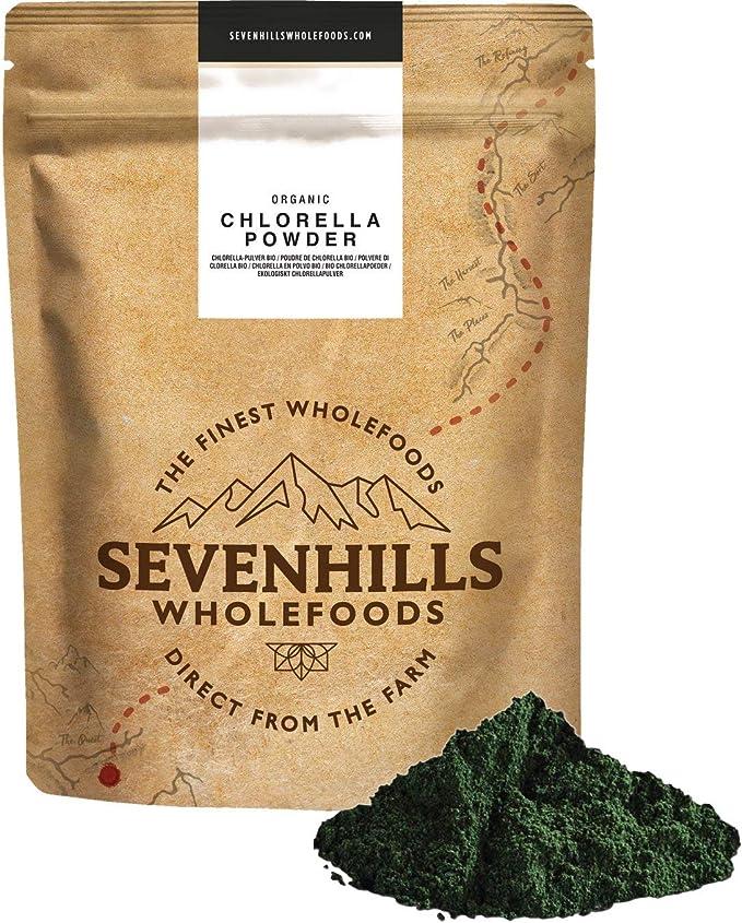 Sevenhills Wholefoods Chlorella En Polvo, Pared Celular Rota, Orgánico 1kg