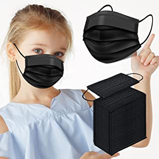 Kids Disposable Face Masks, 100 Pcs Childrens Disposable Face Mask, Disposable Kids Face Masks for Kids Boys Girls