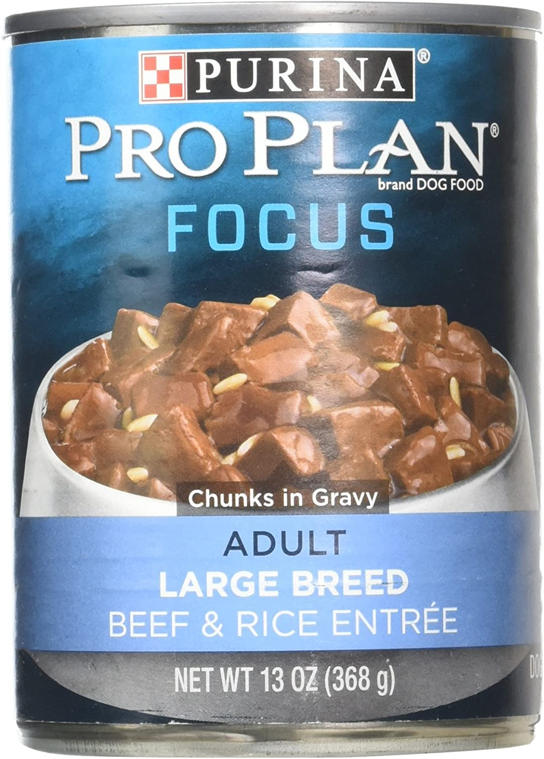 Purina Pro Plan Canned Adult Large Breed Beef and Rice Food, 13 oz.