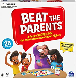 Beat The Parents Classic Family Trivia Game, Kids Vs Parents, with 25 Bonus Cards for Ages 6 and up, Amazon Exclusive