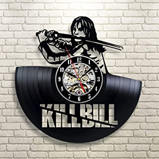 Wood Crafty Shop Kill Bill Design Vinyl Record Wall Clock Gift for Him and Her Unique Wall Decor The Best Gift Idea for Any Event Birthday Gift, Wedding Gift