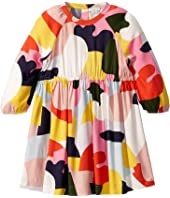 Stella McCartney Kids - Long Sleeve Color Block Viscose Dress (Toddler/Little Kids/Big Kids)