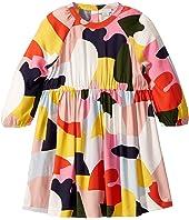 Stella McCartney Kids - Long Sleeve Color Block Viscose Dress (Toddler/Little Kids/Big Kids)