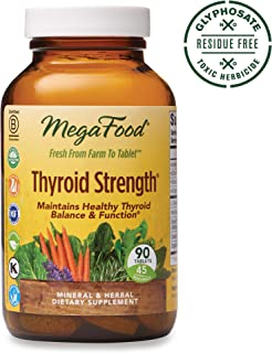MegaFood, Thyroid Strength, Supports Thyroid Health, Mineral and Herbal Supplement with Herbs, Vegan, 90 Tablets (45 Servings) (FFP)