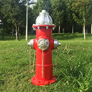 """Fake Fire Hydrant for Dogs to Peed on, Dog Fire Hydrant Pee Post, 14.5"""" Backyard Decor Outdoor Statues Firefighter Gifts f..."""