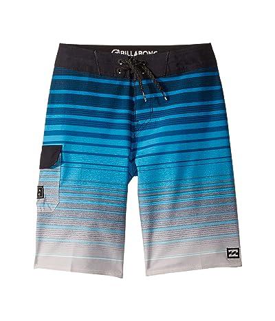 Billabong Kids All Day Stripe Pro Boardshorts (Big Kids) (Blue) Boy