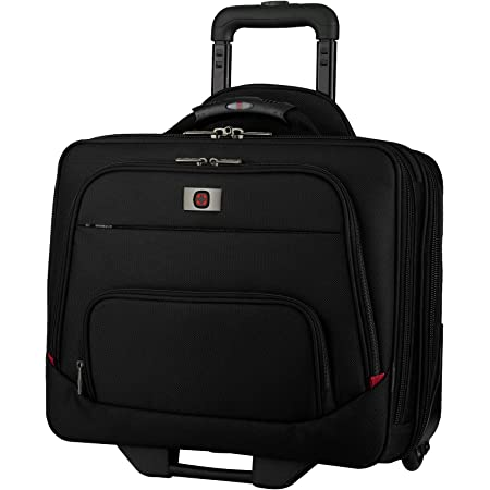 Wenger 605978 SPHERIA 16 Inch Wheeled Laptop Case, Padded Laptop Compartment and Overnight Compartment in Black {24 Litre}