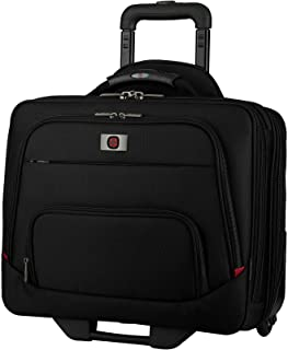 "Wenger 605978 SPHERIA 16"" Wheeled Laptop Case, Smooth Glide 2.5-inch wheels with an Overnight Compartment in Black"