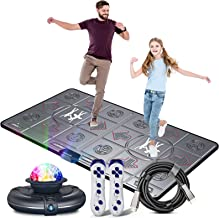 Dance Mat for Kids and Adults,Musical electronic dance mat, Double User dance floor mat with Wireless Handle, HD Camera Ga...