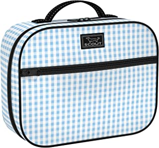 SCOUT Boxed Lunch, Insulated Lunch Bag for Women, Slim-Profile Lunch Box with Zipper Closure, Interior Compartment, and Exterior Pocket (Multiple Patters Available)