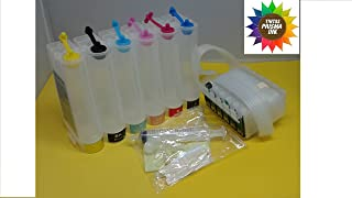 Prisma Ink System CISS Cis Empty for use in Epson 1400 Artisan 1430 Printer T079 79 Reset Chip undefined