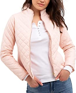 Womens Quilted Side Knit Midweight Jacket