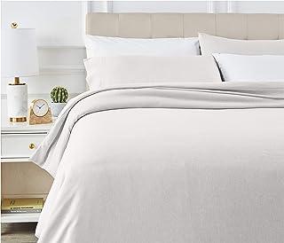 AmazonBasics - Juego de ropa de cama con funda de edredón, de microfibra, 260 x 220 cm, Gris claro