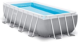 Intex 16ft X 8ft X 42in Prism Frame Rectangular Pool Set with Filter Pump, Ladder, Ground Cloth & Pool Cover