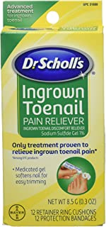 Dr.Scholls Ingrown Toenail Pain Reliever Gel - 0 3 Oz with 12 Cushions & 12 Bandages by Dr. Scholl's