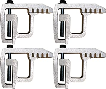 For Mounting Truck Caps with Fiberglass or Aluminum Rails 2in Throat Truck Cap Clamps 4pcs//set Truck Campers Clips Truck Cap Mounting