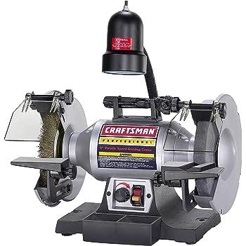 Craftsman 9-21124 1//6 Horsepower 6-Inch Bench Grinder with Lamp