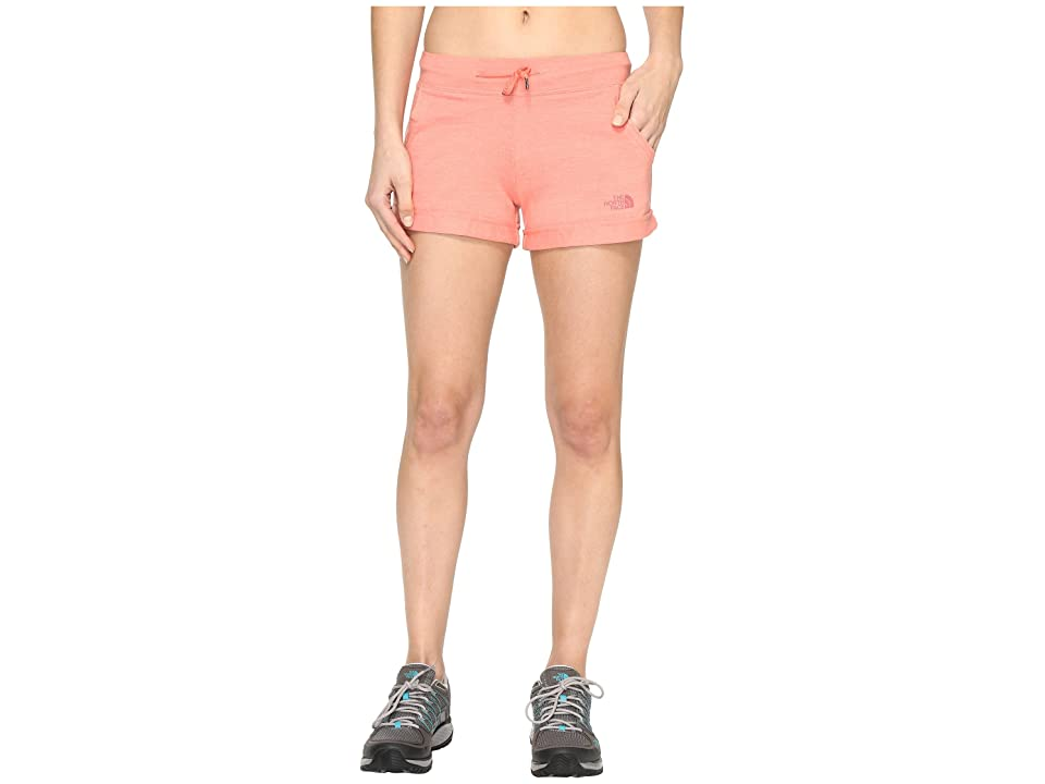 The North Face Tri-Blend Shorts (Burnt Coral Heather (Prior Season)) Women