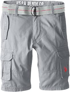 Boys' Solid Cargo Short with Belt
