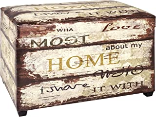 comprar comparacion Haku Möbel caja de asiento - Tapizado en apariencia vintage, altura marrón 42 cm