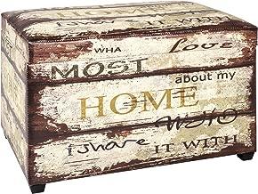 Haku Möbel caja de asiento tapizado en apariencia vintage